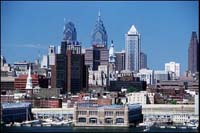 Center City Philadelphia viewed from New Jersery